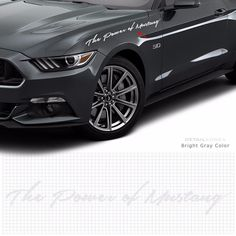 Car Slogan Decal Lettering Sticker 10032 B for Ford Mustang Detail korea Grien #Griben