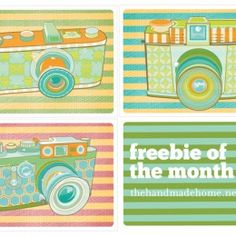 freebie of the month : camera printables