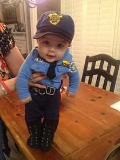 Adorable baby police costume  sc 1 st  Pinterest & My Handmade Home: DIY: Police Officer Costume (Last minute ...