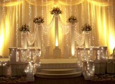 DECORATING COLUMNS FOR YOUR WEDDING | Victorian Columns for your Wedding Party}