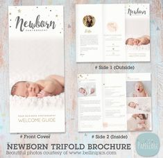 Flyer Photography, Photography Marketing, Photography Guide, Photography Business, Newborn Photography, Photography Pricing, Photography Packaging, Brochure Design, Brochure Template
