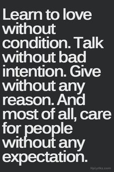 how to love, talk, give, care...