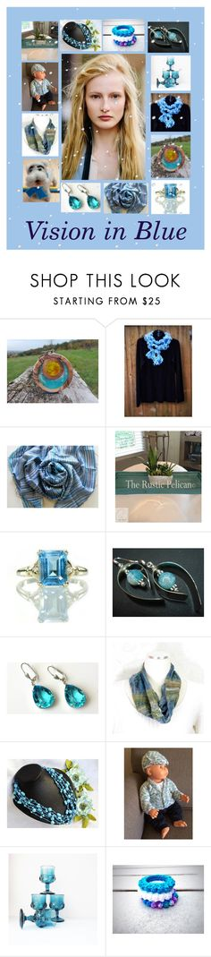 """""""Vision in Blue: Handmade Blue Winter Gifts"""" by paulinemcewen ❤ liked on Polyvore featuring rustic and country"""