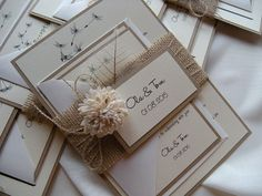 Rustic Wedding Invitation Eco Wedding Invitation by JRTDaisy