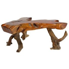 Driftwood Coffee Table | From a unique collection of antique and modern coffee and cocktail tables at https://www.1stdibs.com/furniture/tables/coffee-tables-cocktail-tables/