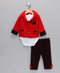 Red Scotty Dog Pants Set - Infant | Daily deals for moms, babies and kids