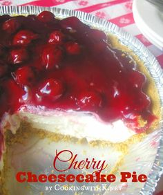 A Southern July Tradition! Mother's Cherry Cheesecake Pie {Granny's Recipe} Cooking with K: A Southern July Tradition! Mother's Cherry Cheesecake Pie {Granny's Recipe} No Bake Cherry Cheesecake, Baked Cheesecake Recipe, Philadelphia No Bake Cheesecake, Classic Cheesecake, Cheesecake Bites, Southern Cheesecake Recipe, Cherry Cheescake, Pumpkin Cheesecake, Köstliche Desserts
