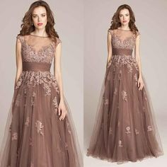 Sexy Sheer Lace Evening Dresses 2015 Fashion Applique Custom Made Mother of Bride Gowns Plus Size Tulle Sweep Train Formal Occasion Wear Online with $111.0/Piece on Nameilishawedding's Store   DHgate.com Evening Dress 2015, Lace Evening Dresses, Formal Dresses, Wedding Guest Gowns, Dress Wedding, Cheap Gowns, Prom Dresses Online, Dress Online, Bride Gowns
