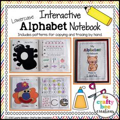 Interactive Lowercase Alphabet Notebook Square Preview 8x8