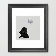 Beware, the Darth Star Framed Art Print by Muddybeats - $33.00