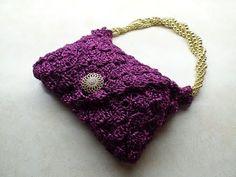 #Crochet Clover Cover Stitch Handbag Purse #TUTORIAL - YouTube bag o day