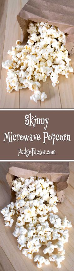 Skinny microwave popcorn is lightly salted, fat-free, and fiber rich. It takes minutes to make, and only contains about 30 calories per cup. via @c2king