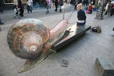 3D illusions: the snail by ~Man-Of-World on deviantART