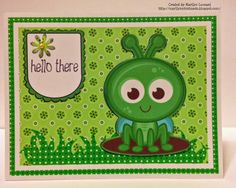 ~ Marilyn's Cricut Cards ~: Grasshopper Greetings
