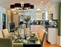 open concept kitchen dining room living room - Google Search