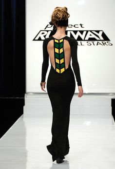 Mondo Guerra's Jamaican Flag inspired dress #Project Runway All Stars