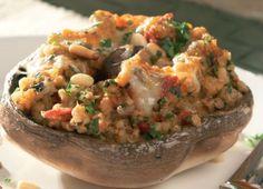 Scottish Stuffed Mushrooms Recipe : Cook Vegetarian Magazine