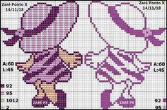 Meninas Free Cross Stitch Charts, Cross Stitch Borders, Cross Stitch Baby, Modern Cross Stitch Patterns, Counted Cross Stitch Patterns, Cross Stitch Designs, Cross Stitching, Cross Stitch Embroidery, Crochet Cross
