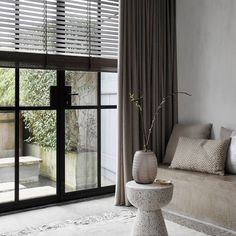 Modern Windows, Curtain Designs, Curtains With Blinds, Window Design, Scandinavian Interior, Stores, Interior Inspiration, Living Room Decor, Interior Design