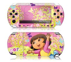 MusicSkins MS-DORA10014 Sony PSP Slim- Dora The Explorer- Butterfly Skin « Game Searches