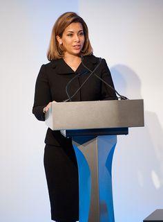 HRH Princess Haya Bint Al Hussein speaks at the Beyond Sport Summit on October 19, 2015 in London, England.