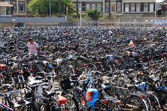 where is my bike?  Delft central train station, The Nederlands