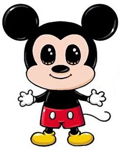 Resultado de imagem para desenhos kawaii to drawing mickey mouse Cute Kawaii Drawings, Cute Disney Drawings, Cartoon Drawings, Easy Drawings, Kawaii Disney, Arte Do Kawaii, Kawaii Art, Disney Kunst, Disney Art