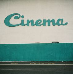 'Cinema' mid-century modern typography