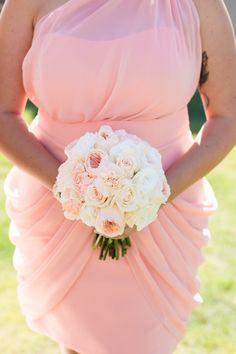 Round garden rose bouquet: http://www.stylemepretty.com/australia-weddings/2015/07/07/soft-romantic-bouquets-from-across-australia/