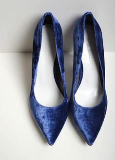 Image of CANDY VELOURS BLEU / BLUE VELVET