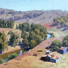 Abstract Landscape, Landscape Paintings, Australian Painting, Impressionism, Book Art, Places To Visit, Drawings, Watercolors, Ranch