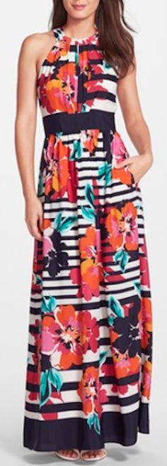 cute halter maxi dress