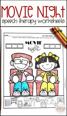 These fun and motivating, movie themed speech therapy worksheets are a fun addition to any speech room! All worksheets are picture supported making them ideal for preschool and elementary students. These fun speech activities can be used during mixed therapy groups since most sounds are included. Most sounds include all three word positions. Vocalic /r/ and blends are also included. These worksheets are easy to send home as reinforcement or speech homework. Great for the busy SLP!