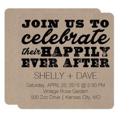 Simple Wedding Reception Their Happily Ever After Wedding Invitation