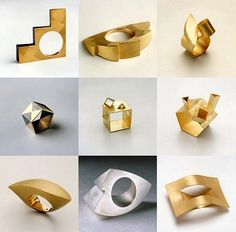 Italy's Giorgio Cecchetto studies geometrical abstraction, volume and surface, creating jewellery that is seriously gorgeous.