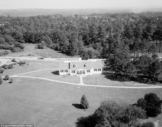 A  picture from above captures the stunning Eisenhower cabin at Augusta National Golf Cour...