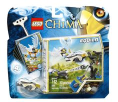 Includes Equila minifigure with 2 weapons. Features 3 targets, eagle dart, eagle Speedor, rip cord, power-up, 6 CHI and 5 game cards. Compete with your friends in an action-packed game of skill! Fire