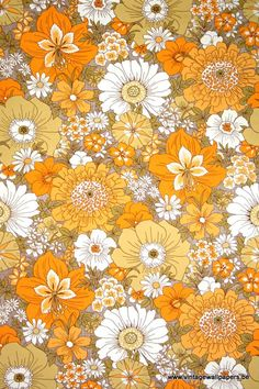 retro wallpaper & vinyl wallcovering from the sixties & seventies - A unique collection of orig Love it! retro wallpaper & vinyl wallcovering from the sixties & seventies - A unique collection of original to wallpapers for sale! Retro Vintage, Motif Vintage, Vintage Prints, Vintage Ideas, French Vintage, Orange Wallpaper, Retro Wallpaper, Kitchen Wallpaper, Wallpaper Decor