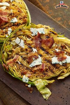 "Soak it all in. With zesty marinated grilled cabbage steaks. Grill Mates Smoky Applewood Marinade Mix adds bold flavor to this veggie main or side dish. ""Beef"" up hearty cabbage slices with crispy, crumbled bacon, blue cheese and green onion toppers. Tasty!"