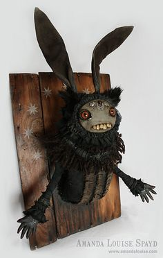 The Black Rabbit of Inlé   by Amanda Louise Spayd #sculpture #bunny #inle