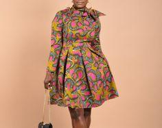 SALE Tilt-Vintage wax print dress