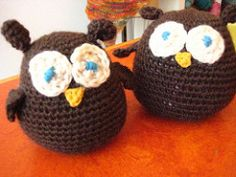 This pattern was designed for the Amigurumi workshop at The Knit Café. Makes a super cute little owl. The pattern is easy to understand for more beginner crocheters.