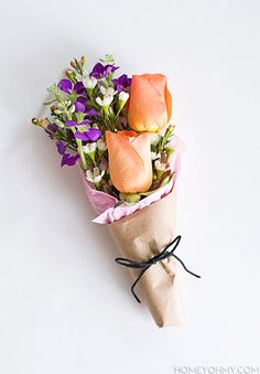 Mini Flower Bouquet...Mother's Day brunch, graduation, wee hostess gift, or any occasion