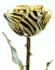 12-inch Lacquered And Edged in 24K Gold - Zebra