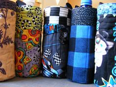 Scrapbusting! Water Bottle Carrier - sew-whats-new.com