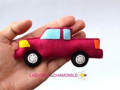 Felt PICKUP TRUCK stuffed felt Country truck car magnet or
