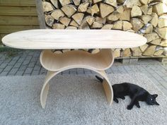 Coffee table made of bent plywood by zyrRafo on Etsy