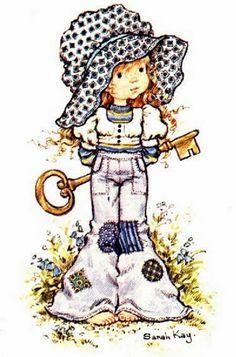 Soloillustratori: Holly Hobbie- Sarah Kay e Sambonnet Sarah Key, Holly Hobbie, Illustrations Vintage, Illustration Art, Sara Key Imagenes, Mary May, Decoupage, Australian Artists, Vintage Cards