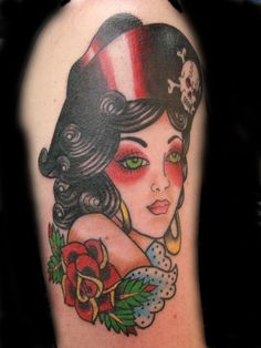 Lovely-Pirate-Girl-Traditional-Tattoo.jpg 788×1050 pixels