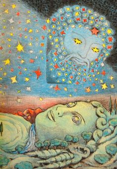 D'aulaires Greek Myths: Uranus and Gaia, 1962.